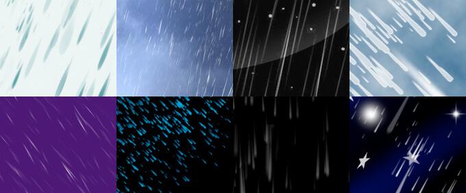雨のphotoshopブラシ