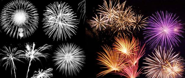 花火(fireworks)のphotoshopブラシ