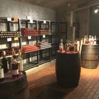 勝沼ぶどうの丘 地下ワインカーヴ(赤いワイン試飲コーナー)