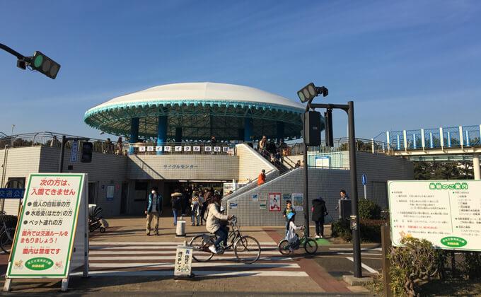 辻堂海浜公園の敷地内にある交通公園の入り口