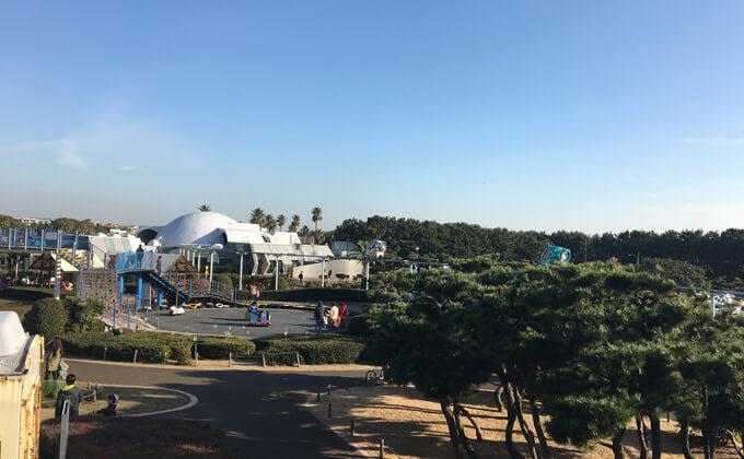 辻堂海浜公園の敷地内にある交通公園の施設スカイサイクル05