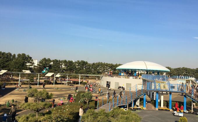 辻堂海浜公園の敷地内にある交通公園の施設スカイサイクル06