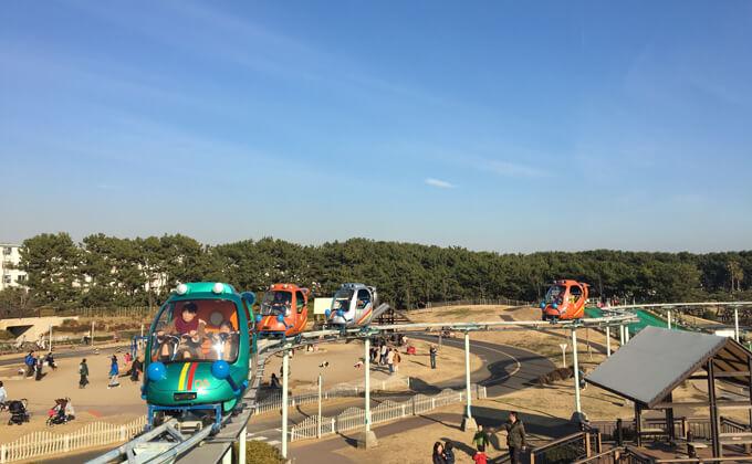 辻堂海浜公園の敷地内にある交通公園の施設スカイサイクル11