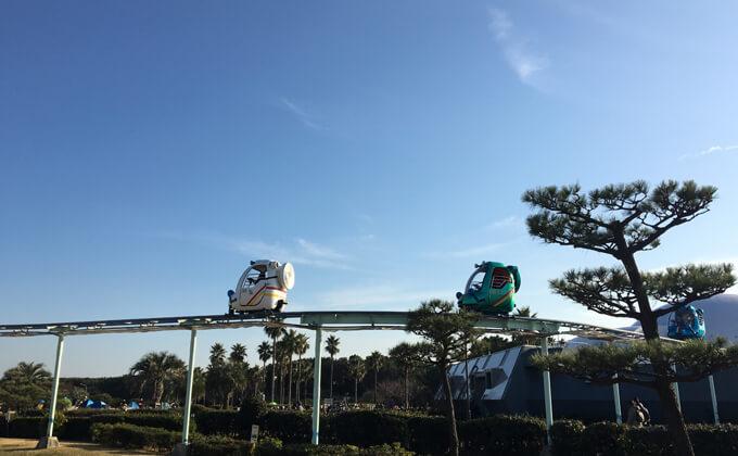辻堂海浜公園の敷地内にある交通公園の施設スカイサイクル14
