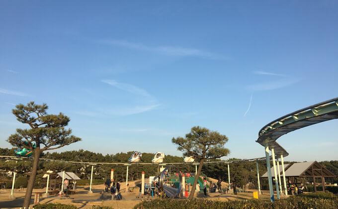 辻堂海浜公園の敷地内にある交通公園の施設スカイサイクル19