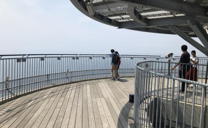 江の島 シーキャンドル 屋上デッキ