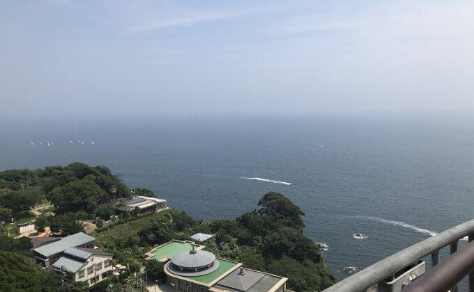江の島 シーキャンドル 屋上デッキからの景色