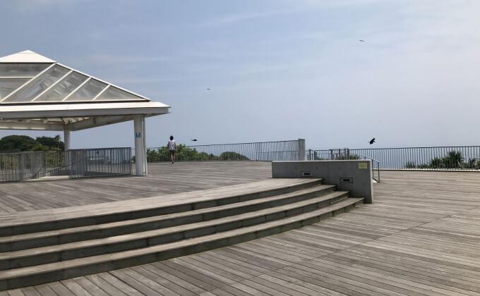 江の島 シーキャンドル 展望台下のサンセットテラス