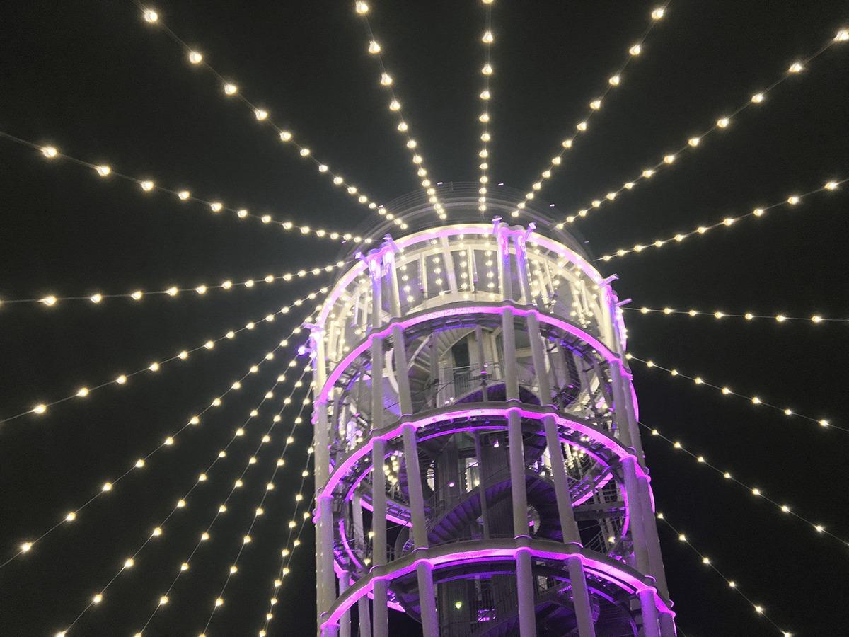 江の島シーキャンドル(展望灯台)のライトアップ「光の大空間」2018-2019