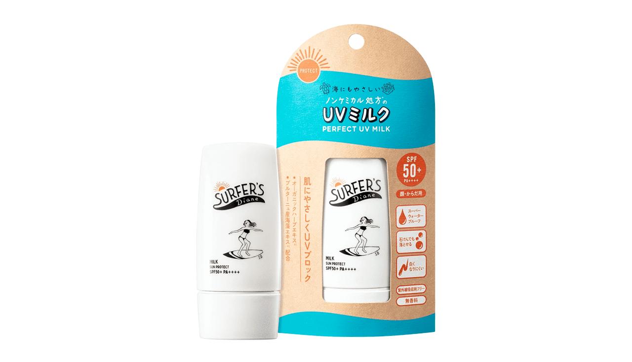 サーファーズダイアン 日焼け止め ノンケミカル UVミルク【SPF50+ PA++++】