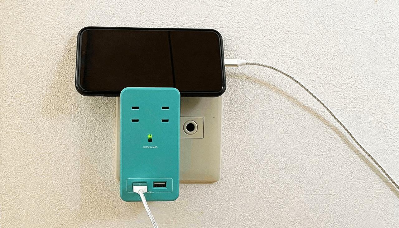 おしゃれな電源タップFargo SATI COLOR(ファーゴ サティカラー) でスマホを充電してみた